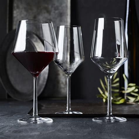 schott zwiesel barware schott zwiesel pure cabernet glasses set of 6 williams sonoma