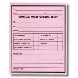 While You Were Out Template by 7 Best Images Of While You Were Out Printable Messages