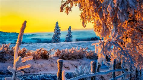 Cool Computer by Beautiful Winter Sunrise 4k Wallpaper Saverwallpaper Com