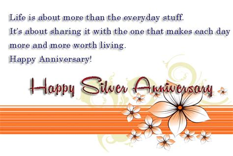 Silver Wedding Anniversary Quotes To by 25th Wedding Anniversary Wishes For Silver Jubilee