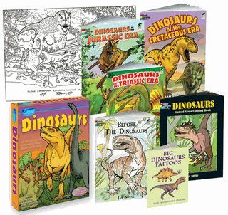 Mainan Scrach Paper 5 coloring books dinosaurs of the cretaceous era dinosaurs of the jurassic era dinosaurs of