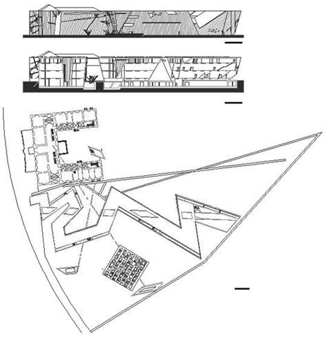 jewish museum berlin floor plan daniel libeskind jewish museum dwg 2d