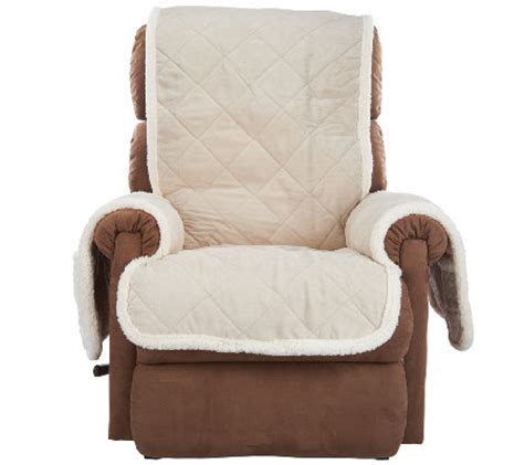 sherpa recliner cover sure fit reversible faux suede sherpa recliner furniture