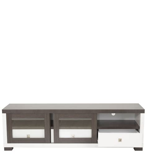 Tv Cabinet Sliding Doors Tv Cabinet With Sliding Doors In Emboss White Finish By Mintwud By Mintwud Modern