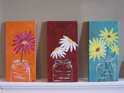 painting ideas canvas mason jars canvas acrylic ideas pinterest