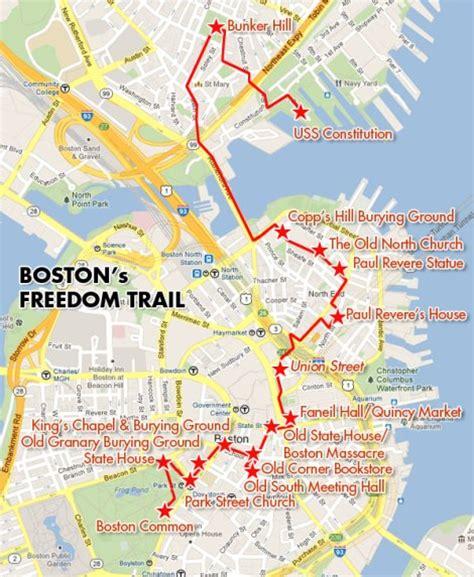 freedom trail boston map freedom trail map boston afputra