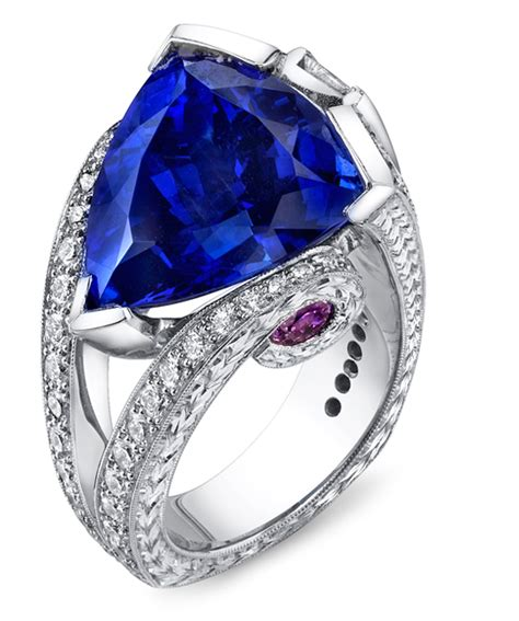 Tanzanite Jewelry by Magnificent Tanzanite Unique Ring Floral Engagement