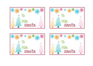 gift tags from santa template