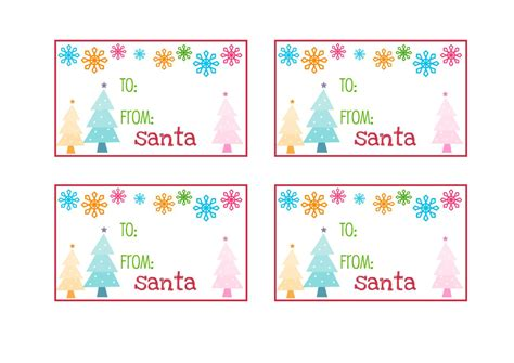 large printable gift tags from santa 7 best images of printable christmas name tags from santa