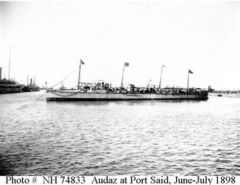 bow of a boat in spanish spanish ships audaz 1897 1927