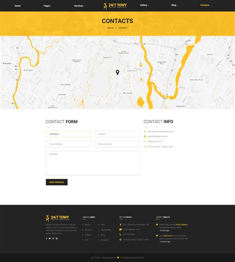Towy Emergency Auto Towing And Roadside Assistance Service Psd Template By Wprollers Roadside Assistance Business Plan Template
