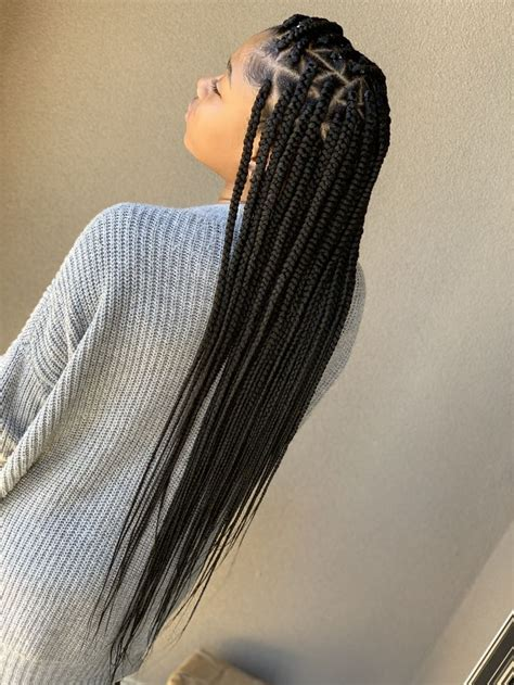waist length   scalp braids  weave blonde