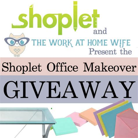 Home Makeover Giveaways - the work at home wife s shoplet office makeover giveaway