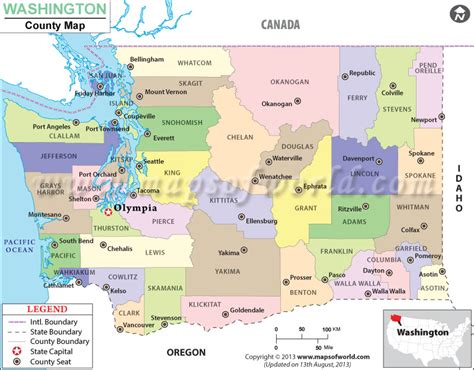 map of washington counties washington state county map counties in washington state