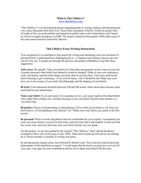 This I Believe Essay Format by Personal Essay For Scholarship Free Sle Essay For Scholarship Application