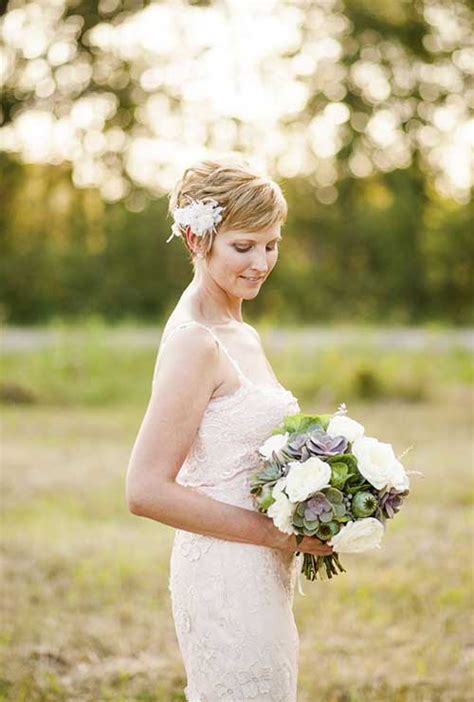 20 wedding styles for short hairstyles