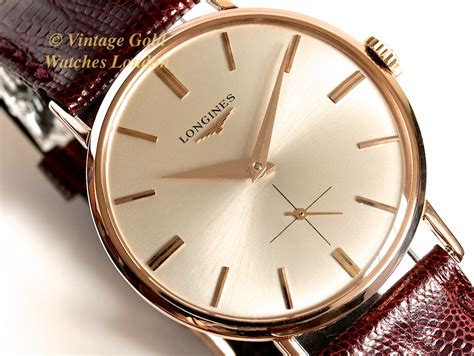longines 18k pink gold cal 23z 1962 sorry now sold