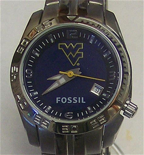 west virginia mountaineers fossil womens sport logo