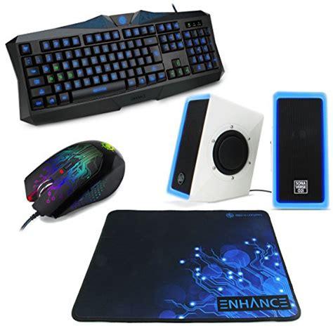 Dell Original Mouse Keyboard Komputer Bundle Sepaket Set enhance gaming bundle combo set with blue led pc speakers backlit keyboard adjustable dpi