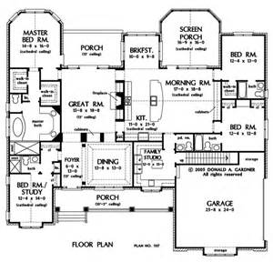 one level house plans with porch don gardner the clarkson one level amazing kitchen