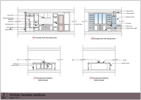 section elevation drawing download dining table plan elevation section