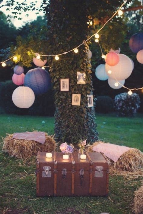 Backyard Quince Quince Theme Decorations Gardens Paper Lanterns And Boho