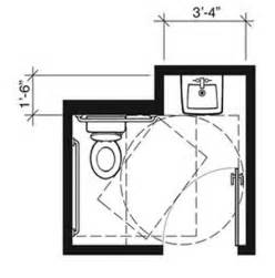 comparison of single user toilet room layouts ada compliance