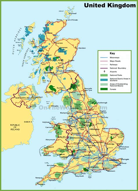 image gallery national parks map uk