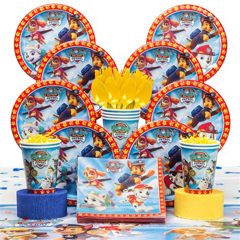 paw patrol birthday deluxe tableware kit serves 8