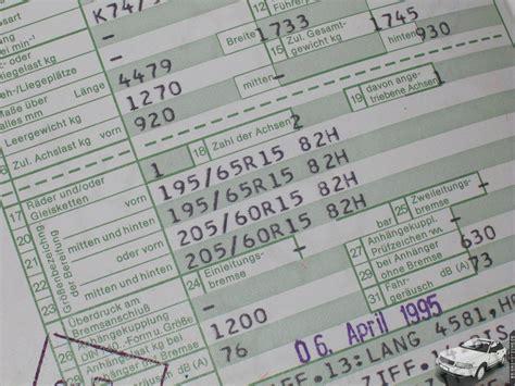 felgen im fahrzeugschein eintragen b5 gaskutsche de informationsverlust durch neue papiere