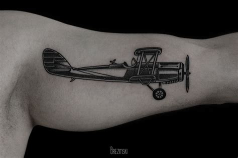 plane tattoo by ilya brezinski design of tattoosdesign