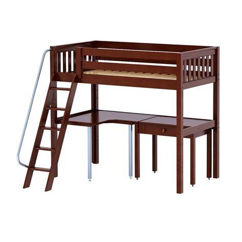 Cs Desk maxtrixkids knockout4 cs high loft w angle ladder corner desk study desk knockout4 cs