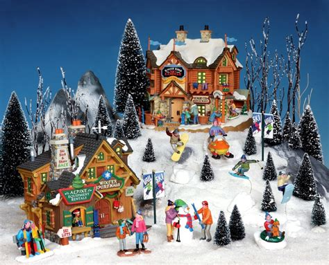 lemax christmas villages lemax vail grat setup ideas town ideas lodges and signs