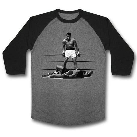 Muhammad Ali Black Shirt muhammad ali shirt raglan victory grey black shirt