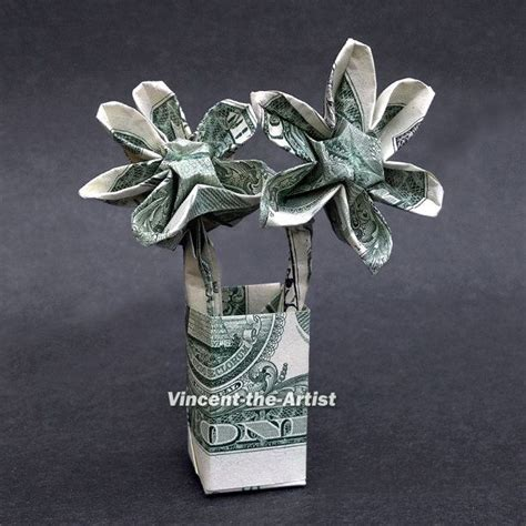 Dollar Origami Flower - dollar origami flowers money dollar origami