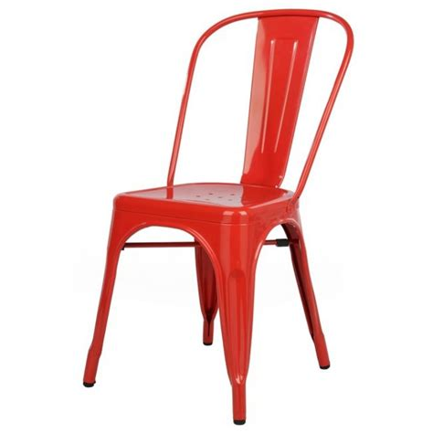 diana industrial iconic table l walls collection and lights tolix style metal industrial loft designer red cafe chair