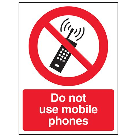 Building A Garage Workshop by Do Not Use Mobile Phones Portrait Safety Signs 4 Less