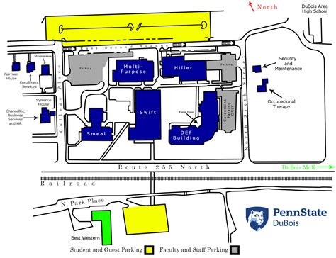 Psu Finder Cus Map Penn State Dubois
