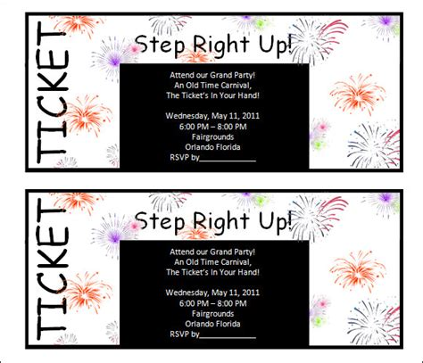 printable show tickets ticket template 29 download documents in pdf psd