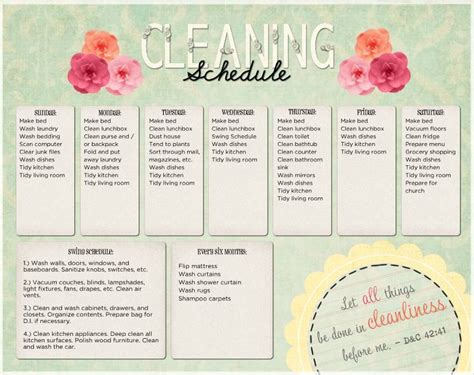 domestic cleaning schedule template kitchen cleaning schedule template uk organization