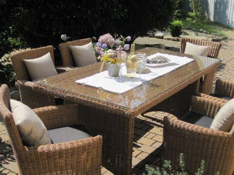 Sitzgruppe Garten by Sitzgruppe Garten Garnitur Tisch Und 6 Sessel St 252 Hle Rattan Polyrattan Geflecht Gartenm 246 Bel