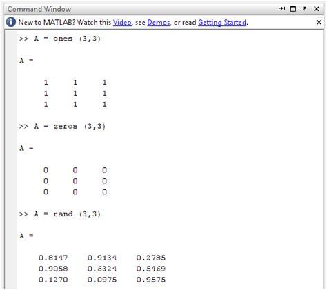 Dasar Pemrograman 2 Implementasi Menggunakan Java C Matlab array dan matrik pada matlab just