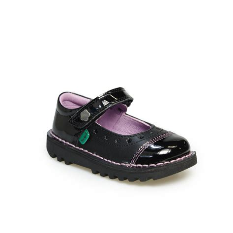Kickers Shoes 7 kickers black leather infants
