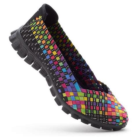 skechers multi color shoes skechers ez flex 2 yes s stretch weave slip