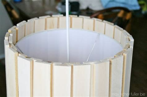 drum l shade tutorial remodelaholic easy and inexpensive wood shim pendant