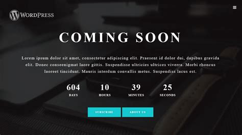 coming soon page template responsive coming soon chooseplugin