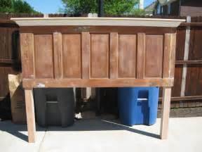 5 panel door headboard made with legs by vintage headboard