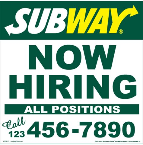 30 quot x 30 quot now hiring sign w phone number