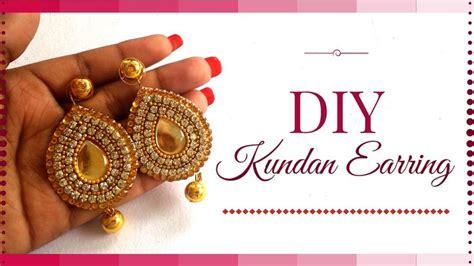 Diy Hauptdekor Ideen Indien by Die Besten 25 Diy Kundan Jewellery Ideen Auf