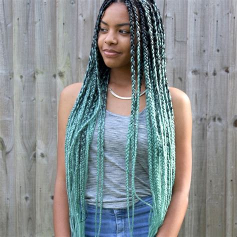 braids for ombre hair catface hair mint green ombre jumbo braiding hair